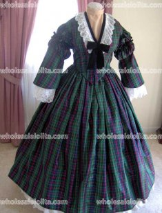 Custom Made - 1800s Victorian Dress 1860s Civil War Day Gown - Picnic Tea Bridal - Reenactor Costume Bodice Skirt