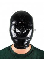 Latex Hood Rubber Costume Latex Hood Eyes Zipper Mouth Zipper