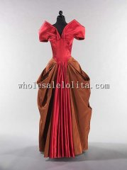1940s American Silk Evening Dress