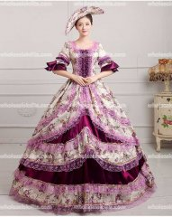 18th Century Rococo Style Marie Antoinette Inspired Prom Dress Wedding Ball Gown PURPLE