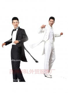 Mens White/Black Prince Palace Tail Suits Mens Vintage Costume