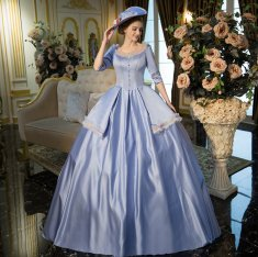 New Water Blue Court Theater Dresses