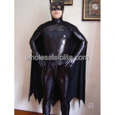 Black Batman Shiny Metalic Costume