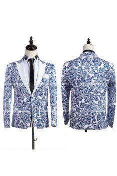 Customized Printing Mens Prince Suits Party Costume