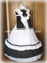 19th Century Victorian Maid Cosplay Costume Gown Lolita Reenactment Theatre Costume