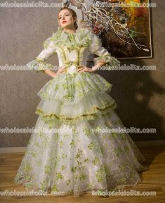 18th Century Marie Antoinette Inspired Dress Rococo Style Gown