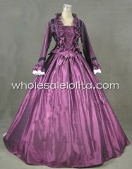 Purple Civil War Victorian Ball Gown Dress