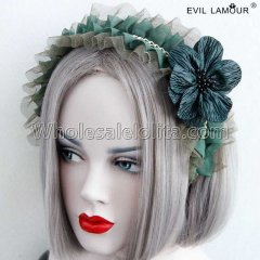 Gothic Maid Cosplay Headband Masquerade Accessories