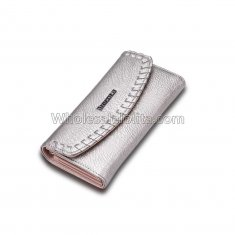 Female Wallet for dollar price brand and women's purse genuine leather money bag Gray Ladies walet