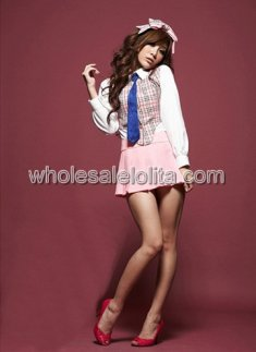 Hot Sale Pink Sexy Shool Girl Uniform