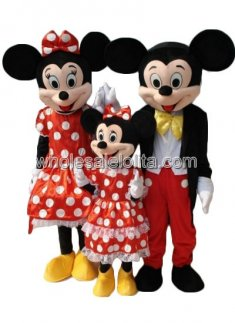 Kid's Mickey and Minnie Mouse Family Mascot Costume