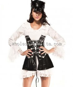 Cool Stringed Corset Pirate Costume for Women