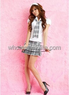 Hot School Girl Fancy Dress for Adults