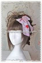 INFANTA Q-CANDY Sweet Lolita Hair Bow Pink/Sky Blue