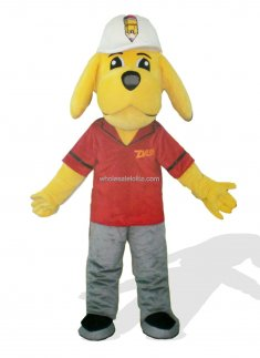 Cool Yellow Dog Mascot Costume