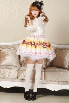 Angelic Candy Fairy Lolita Kawaii Skirt Cute Cosplay