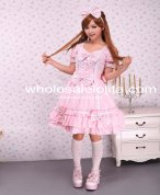 Cotton Pink Cape Sweet Lolita Dress