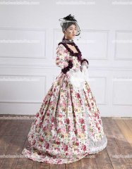 18th Century Marie Antoinette Victorian Gothic Wedding Prom Dress