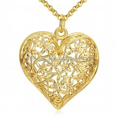 Fashionable Platnium Rose Gold Necklace with Sweet Heart Pendant for Versatile Occasions