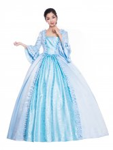 French Blue Rococo Baroque Victorian Dress Victorian Women Dress Period Dress Ball Gown