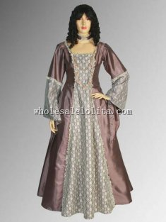 Handmade Taffeta Renaissance Victorian Medieval Style Dress Charlotte Gown Custome Multiple Colors Available