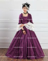 18th Century Pruple Ball Gown /Victorian Evening Dresses