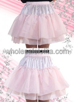 Pink Multilayer Mini Cotton Lolita Skirt
