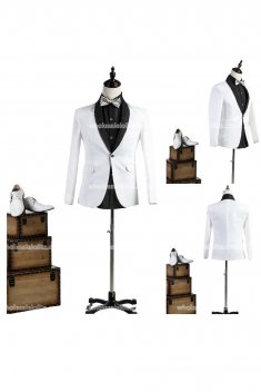 Customized White Mens Prince Suits Party Costume