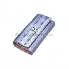 Luxury Designer Famous Brand Carteras Long Clutch Card Holder Ladies Women Wallets Female Bag Ladies Women's Purse Walet Cuzdan Light Blue