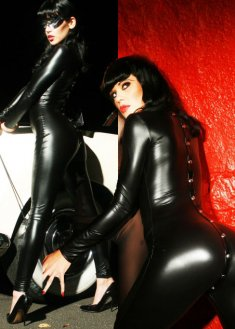 Black Club Wear Sexy PVC Bodysuit