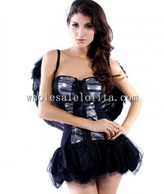 Sexy Black Angel Costume Dress