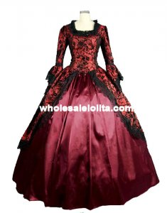 Gothic Victorian Lolita Dress Prom Gown Cosplay Reenactment Theatre Costume