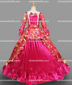 18th Century Rococo Dress Plum Marie Antoinette Victorian Dress Prom/Wedding Dress Ball Gown