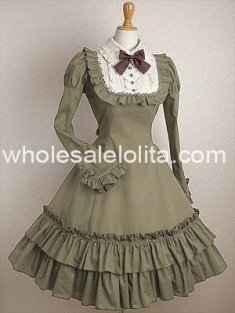 Elegant Light Green Long Sleeves Classic Lolita Dress
