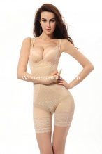 Lady Adjustable Straps Open Bust Mid-Thigh Summer Bodysuit