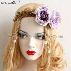 Bride Flower Splint Ring Headband Masquerade Accessories