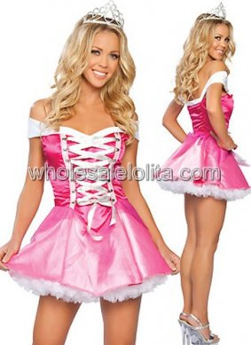 Sweet Pink Princess Costume for Women