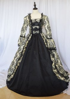 Marie Antoinette Victorian Gothic Wedding Prom Dress Gothic Dress History