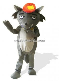 Funny Lint Grey Wolf Costume
