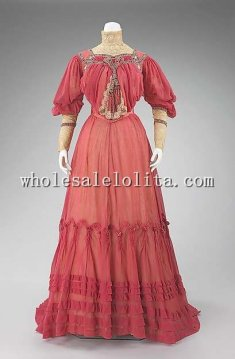 Early 20th Century Edwardian Period Afternoon Dress Garden Party Dress
