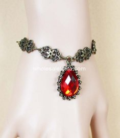 Simple Vintage Euro Court Ruby Ladies DIY Bracelet