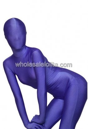 Blue Full Body Lycra Spandex Zentai
