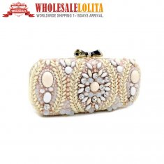 Baroque Nail Bead Dress Bag Handbag Wedding Dinner Ladies Bags