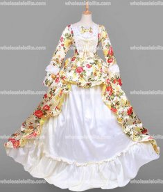 18th Century Rococo Dress Yellow Marie Antoinette Victorian Dress Prom/Wedding Dress Ball Gown