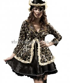 Luxury Pirate Tutu Dress with Coat
