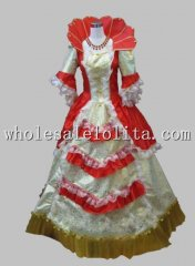 Stand Collar Rococo European Court Period Dress Stage Costume 6 Colors