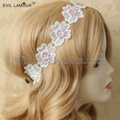 Lovely Lace Flower Hair Headband Masquerade Accessories