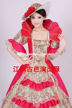 Historical Marie Antoinette Theme Party Dress Ball Gown Theatre Clothing N7