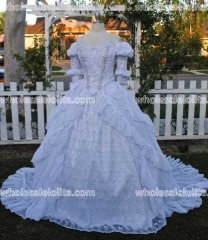 Ever After Inspired Ballgown Beaded Sparkle Chiffon Ruffled Fantasy Gown Custom