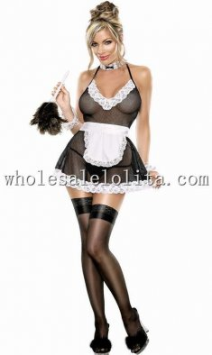 See-through Lacy Apron Maid Costume